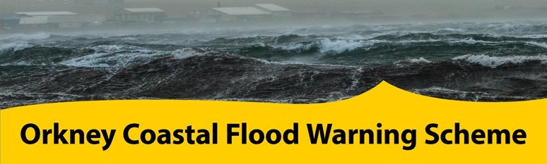 Orkney Coastal Flood Warning banner